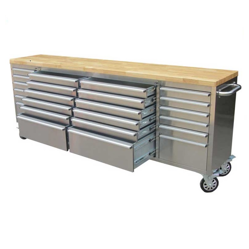 2 4m Stainless Steel Workbench Tool, Stainless Steel Tool Cabinet